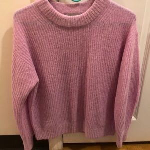Everlane oversized alpaca crew in pink - EUC